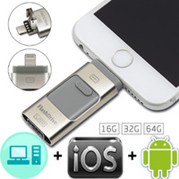 adapter usb stick - For Samsung Android For iphone PC IPAD G G G GB Metal Pen drive memory stick mobile phone Otg Micro Usb Flash Drive