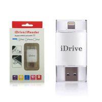 Wholesale iDrive i Flash Device GB GB GB Lightning to USB OTG Drive For Apple iOS iPhone S SE S Plus iPad Air mini Memory Card Reader