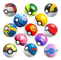 Wholesale Poke Toys cm Pikachu Poke Ball Toys Kids Fairy Ball Super Ball for Anime Pocket Monsters Figures Kids Toys Gifts