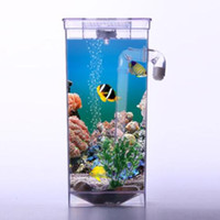 Wholesale Transparent NEW Kid My Fun Fish Self Cleaning Tank Complete Aquarium Setup Gift Volume L
