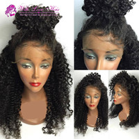 afro curl wig - high Quality heat resistant fiber Afro curl kinky curly Synthetic lace front wig for Black Women