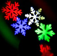 Wholesale Colored Snowflakes - Colored snowflakes projection lamp decoration KTV Spring Festival Christmas lights Christmas stage light Holiday lights
