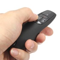 Wholesale New Arrival Portable comfortable handheld R400 Wireless Presenter Receiver Pointer Case Remote Control with Red Laser Pen Black