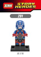atom build - XH Building Blocks Sets Super Heroes Avengers Atom Minifigures Assemble Single Building Bricks Action Model Kids Gift Toys Mini Figures