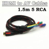 Wholesale VOXLINK M P HDMI to AV Composite RCA Audio Video Cables Gold Plated FLTR filter Cables For HDTV Xbox PS3 TV Box