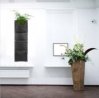 Wholesale Novelty Pockets Vertical Garden Planter Wall mounted Polyester Hanging Flower Pots LiNovelty Pockets Vertical Gaving Indoor Wall Planter