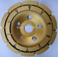 Wholesale 9 quot diamond grinding mm cup wheel double row discs grinding wheels tools for concrete marble granite