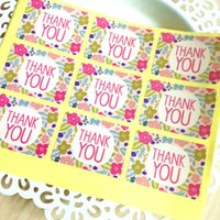 Wholesale 450 Flower quot Thank You quot Seal label Stickers for Wedding Gift Wrap Bags Envelopes Cards CH