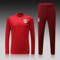 atletico madrid shirts - Top Thai Quality long sleeve shirts Atletico Madrid Soccer Wear red Training suit men football sets tracksuit