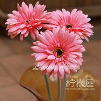 Wholesale Long branch of Gerbera Flower simulation gerberajamesonii sun flower decorative flower flower chrysanthemum European Home Furnishi