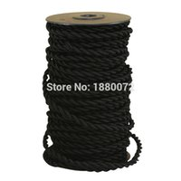 antique cotton fabric - hot sales Cotton Fabric Black vintage twisted Cable decorative textile twisted electrical wire antique fabric lamp cord