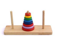 Wholesale Tower of Hanoi Educational Wooden Toys Classic Mathematical Puzzle Toy for Children to Develop Intelligence