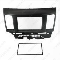 Wholesale Black Car DIN Refitting DVD Frame DVD Panel Dash Kit Fascia Radio Audio frame for Mitsubishi Fortis and Lancer