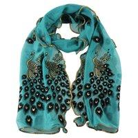 amazing gift wrapping - Amazing Fashion Women s handmade lace peacock scarves Chiffon Scarf Long Soft Wrap Shawl Gift