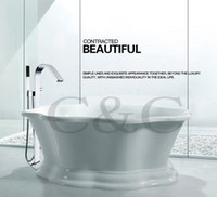 bathtubs installation - Large Water Flow Easy Installation With Embedded Box Bath Waterfall Floor Standing Bathtub Faucet Mixer Set