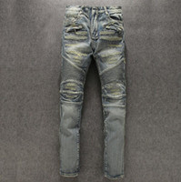 ancient knives - Balmain Knee fold curved knife restoring ancient ways of new fund of autumn winters is bad hole patches locomotive pants men s jeans