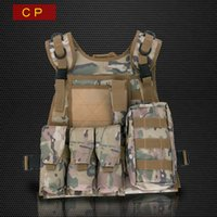 acu equipment - ACU CP Camo Military Tactical Vest Cool Colete Tatico Molle Airsoftsports CS GO Paintball Equipment Uniform Gilet Tactique Black