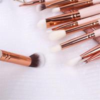 beige eye pencil - Zoeva Pieces Rose Golden Complete Eye Set Eyeshadow Eyeliner Blending Pencil Makeup Brushes With Case