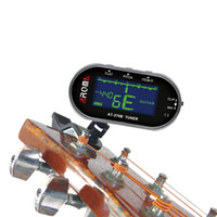 Wholesale Hight Quality Aroma AT B Clip on Mic Guitar Tuner Chromatic Guitar Bass Violin Viola Musical Instruments Parts