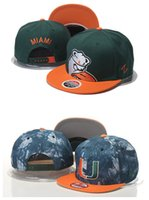 ncaa hats - Cheap NCAA Snapbacks Miami Hurricanes Caps American College Hats Miami Baseball Caps Sports Adjustable Caps