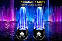 Wholesale Dancing Water Music Fountain LED Light Speaker Fashion Home Deco For Smartphone Notebook Tablet PC iPhone