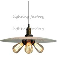 art restoration - Milk Glass Filament Pendant Lamp Restoration Loft Edison Bulb Glass Chandelier Dia44cm