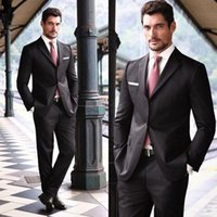 ash pieces - 2015 fashion the groom dress suit lapel thin shallow ash three buttons best man of the best men s suits