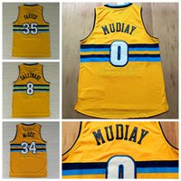 Wholesale 2016 Yellow Emmanuel Mudiay Throwback Jerseys Uniforms Danilo Gallinari JaVale McGee Shirt New Rev Retro Kenneth Faried
