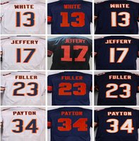 best kyle - Best quality Men jerseys Kevin White Alshon Jeffery Kyle Fuller Walter Payton Mike Ditka elite jersey White blue