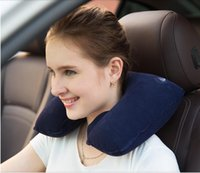 airplane seat pillow - Factory Frice U Shaped in Inflatable Neck Pillow Eyeshade Earplugs Airplane Car Casual Office