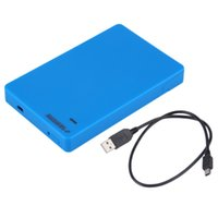 Wholesale Blue Tool Free USB SATA HDD SSD Enclosure HDD External Case Mobile Box For inch SATA HDD SSD Drive