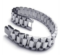 Wholesale 316L Stainless Steel Rolex Style Band Link Men s Bracelet European trend of men s Titanium Bracelet Mens Titanium jewelry bracelet jewelry