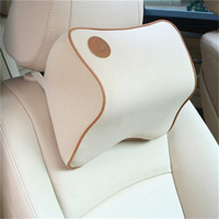 Wholesale Memory Foam Car Headrest Pillow Neck Back Cushion Pillow Home Office Car Seat Lumbar Back Support In Car Travel Back Cushion High Quality