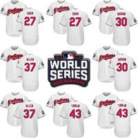 Wholesale 2016 World Series Jersey Cleveland Indians Men s Bryan Shaw Tyler Naquin Cody Allen Carlos Santana Josh Tomlin Jerseys White