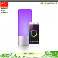 venda por atacado bedside lamp-Mini Speaker PMMA LED Night Light BT Speaker cabeceira Lamp 360 graus toque Speaker Controle RGB luz jogador Mudando de mídia 010.252