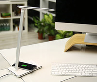 Wholesale EyeCare LED Desk Lamp Qi Wireless Desktop Charger With LED Lamp USB Charger Port V A Wireless Charging Output for