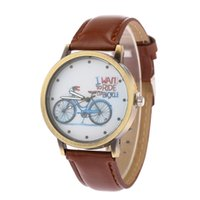 battery lift - The new women and men High quality Watch watch students lifts road pu leather bicycle cartoon watches