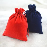 bags jewelry stores - 50pcs x12cm high grade Flannel Velvet Drawstring bag color optional sided flannel bags Christmas gift Jewelry store Bag Wedding Favor Bag