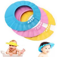 Wholesale Soft Children Adjustable Safe Shampoo Shower Cap Bath Protection Soft Caps Baby Hats for Baby Kids
