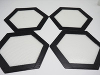 silicone baking sheets - Hexagon shape Food Grade Non stick Silicone Baking Mat Dabber Sheets Jars Dab Tool Vaporizer