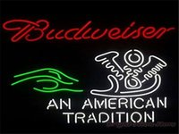 american traditions - Budweiser An American Tradition Real Glass Neon Light Signs Bar Pub Restaurant Billiards Shops Display Signboards quot x14 quot