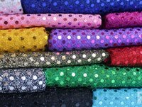 Wholesale 3 mm SEQUIN FABRIC Dress Fabric ONE WAY STRETCH WIDTH CM for Party Wedding Stage Wear