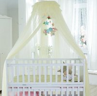 Wholesale Clip court nets baby crib with stand encryption dome cover baby nursery nets