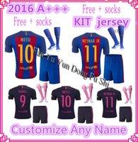 american football buy - DHL Mixed buy Barcelona kit jerseys Socks Third Jersey Messi Soccer jerseys Green Messi Neymar jr Suarez Second rd Barce