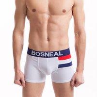Wholesale Super Bulge Men - Bosneal Male Sports Short ! Cotton Boxers For Men Bulge Pouch Sexy Mens underwear boxers ,Super Soft & Breathable (5piece lot)