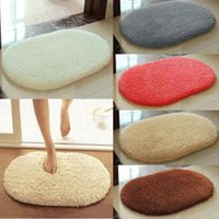 Wholesale 40cm cm Anti Skid Soft Fluffy Absorbent Area Rug Home Bathroom Floor Shower Door Mat Color