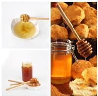 Wholesale 8 cm Wooden Honey Dippers Wedding Favors honey stir stick