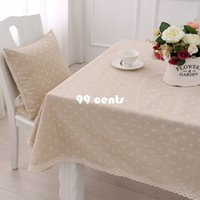 Wholesale 1pcs cm white daisy cotton linen tablecloth table cloth dining table cover desk towels ll