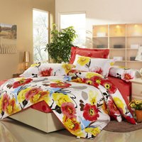 Wholesale Flower fashion bedding set queen king twin size comforter duvet quilt cover fitted bedsheet pillowcase home textile sets