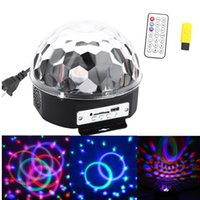 Wholesale Remote Voice Control LEDs RGB Stage Light Party Lights Crystal Magic Ball Disco DJ Light With Speakers Support SD Card U Disk